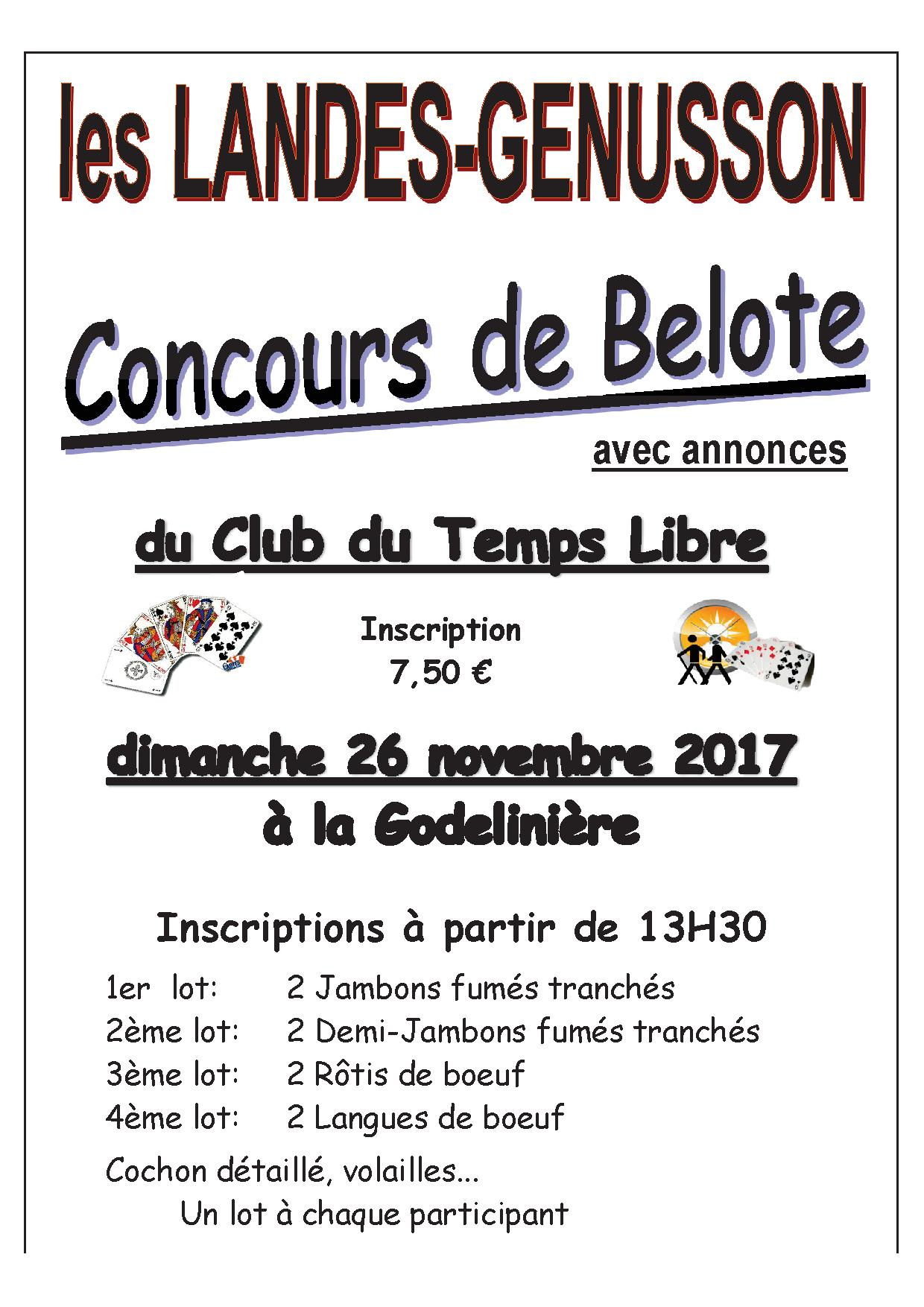 Concours belote club